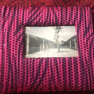 Treasure Your Memories Pink sequins photo album
